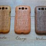 Samsung Galaxy S3 case - wooden cas..